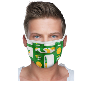 2 Ply Sublimated Polyester Mask with Filter Pocket