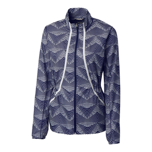 Cutter & Buck Ladies Long Sleeve Cloud Breaker Print Full Zip