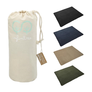 100% Recycled PET Fleece Blanket with Canvas Pouch